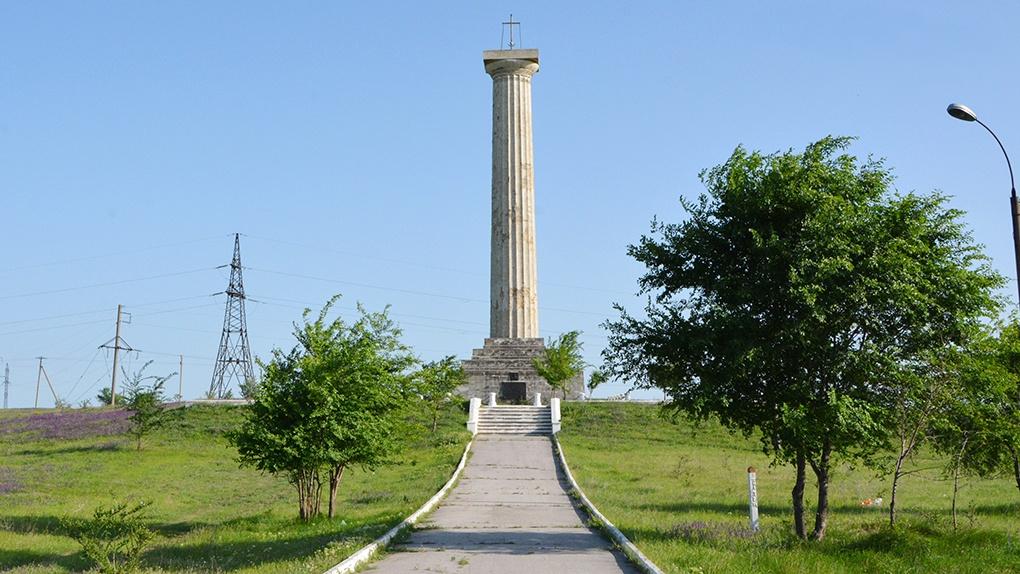 Монумент Кагульской битвы в Вулканешты.