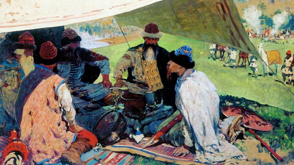 Князья договариваются о совместном походе на половцев.